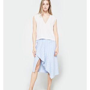 Farrow split asymmetrical skirt